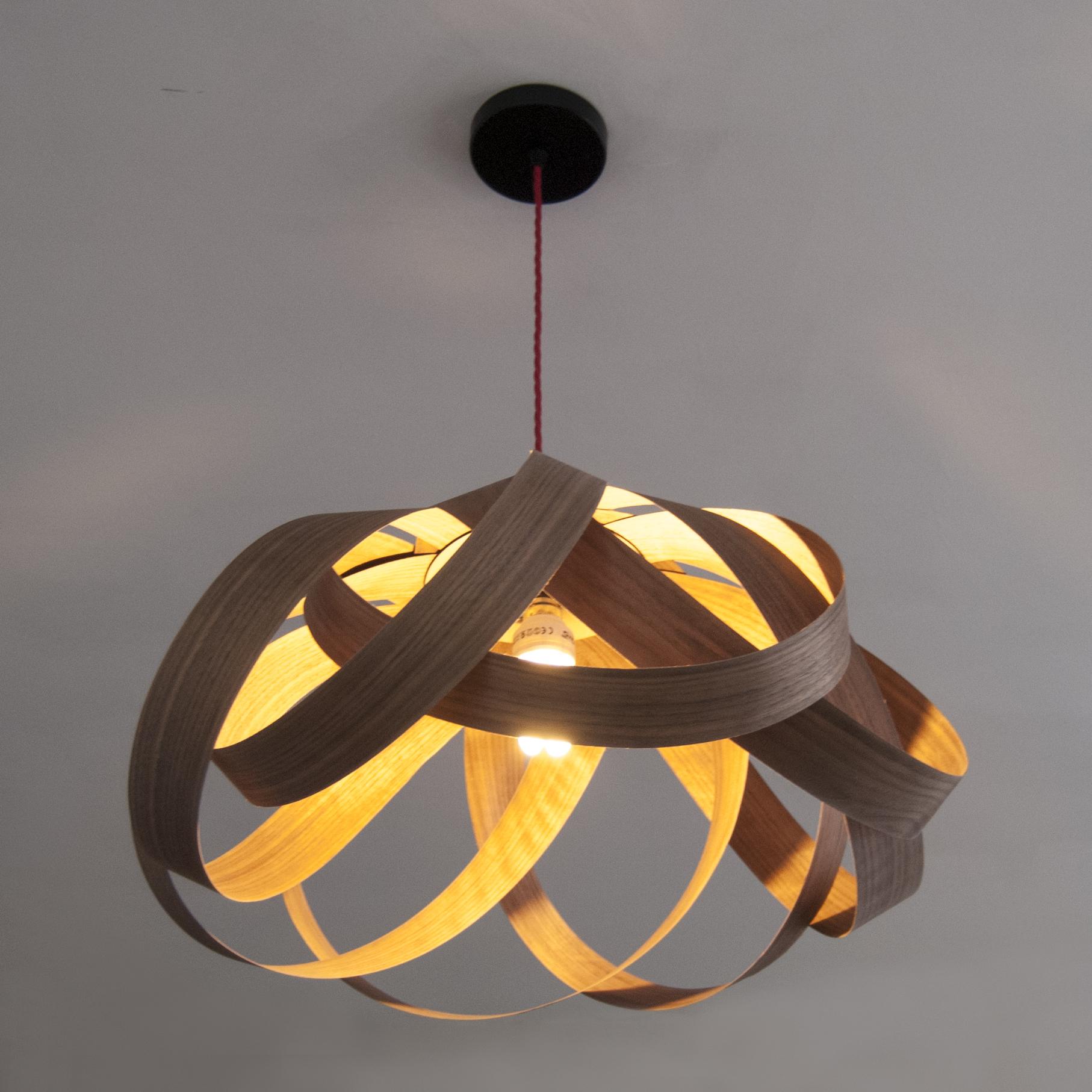 Random lights daisy large lampshade walnut wood previousplaynext aloadofball Choice Image