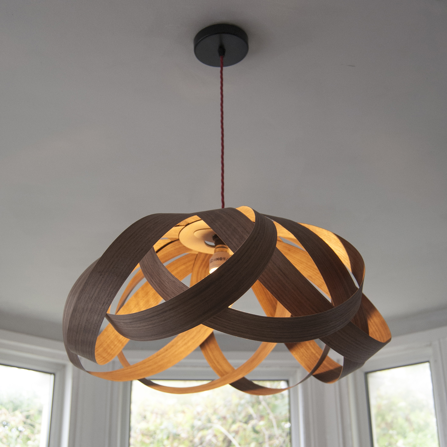 Random lights daisy large lampshade walnut wood previousplaynext aloadofball Gallery